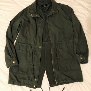 Green Forever 21 Utility Drawstring Jacket